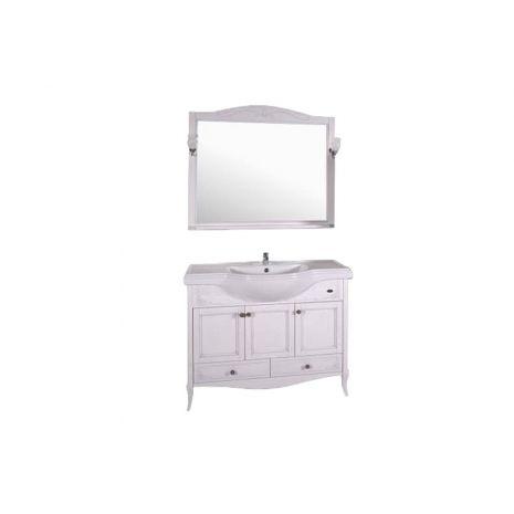 Комплект мебели для ванной Салерно 105 Патина серебро