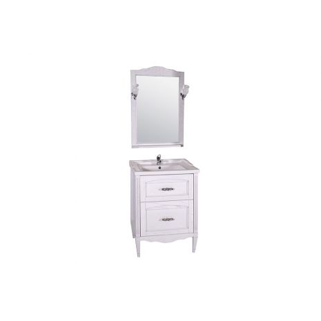 Комплект мебели для ванной Римини Nuovo 60 Патина серебро