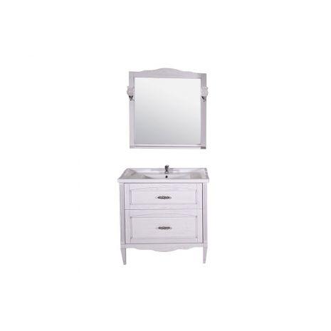 Комплект мебели для ванной Римини Nuovo 80 Патина серебро