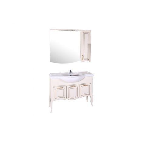 Комплект мебели для ванной Эмили 105 Бежевый