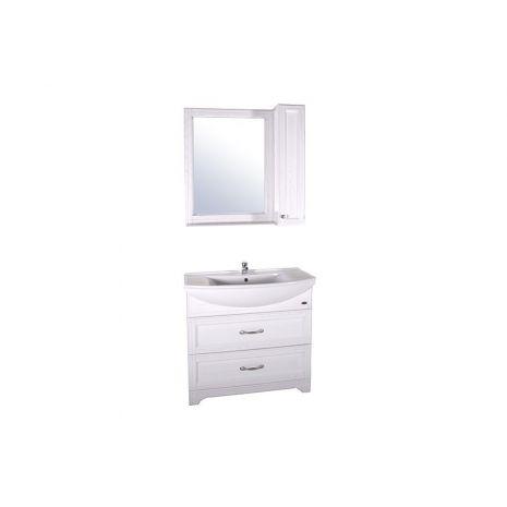 Комплект мебели для ванной Берта 85 со шкафчиком