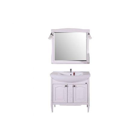 Комплект мебели для ванной Модена 85 Патина серебро