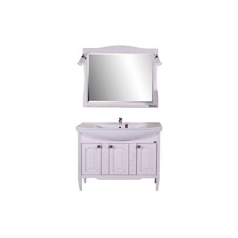 Комплект мебели для ванной Модена 105 Патина серебро