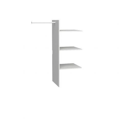 Полки для 2х и 3х дверного шкафов Верден белый воск