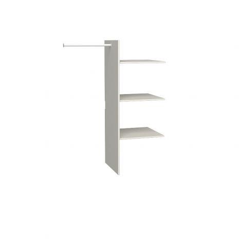 Полки для 2х и 3х дверного шкафов Верден слоновая кость воск
