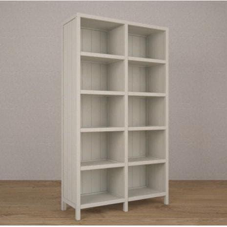 Стеллаж 2 секция WoodCorner (Белый)
