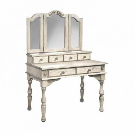Стол туалетный с зеркалом Викинг-GL (Браширование)