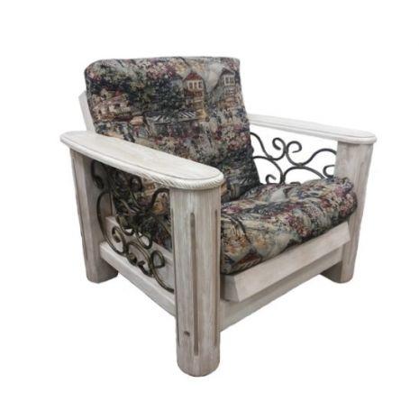 Кресло Викинг 02 с мягким элементом (Браширование)