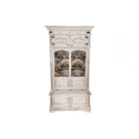 Шкаф комбинированный для прихожей Викинг 05 (Браширование)