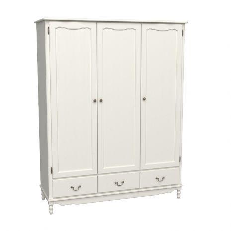 Шкаф 3х дверный Верден с глухими дверями слоновая кость воск