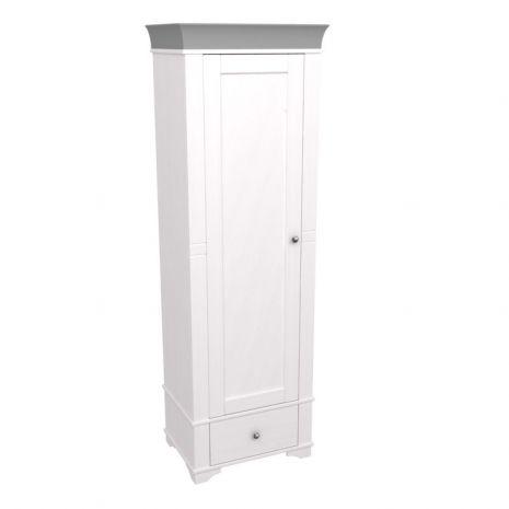Шкаф 1-дверный Бейли белый воск-антрацит