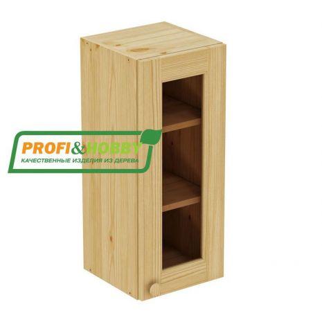 Шкаф настенный 1 дверь 30х72 стекло Profi&Hobby