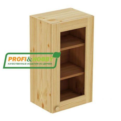 Шкаф настенный 1 дверь 45х72 стекло Profi&Hobby