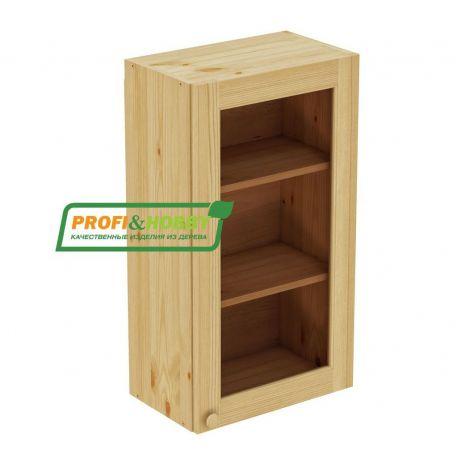 Шкаф настенный 1 дверь 50х90 стекло Profi&Hobby