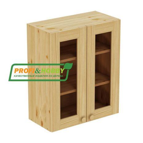 Шкаф настенный 2 двери 60х72 стекло Profi&Hobby