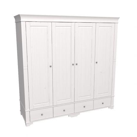 Шкаф 4х дверный с глухими дверями Бейли