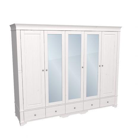 Шкаф 5 дверный с 2 глухими дверями и 3 зеркальными дверью Бейли