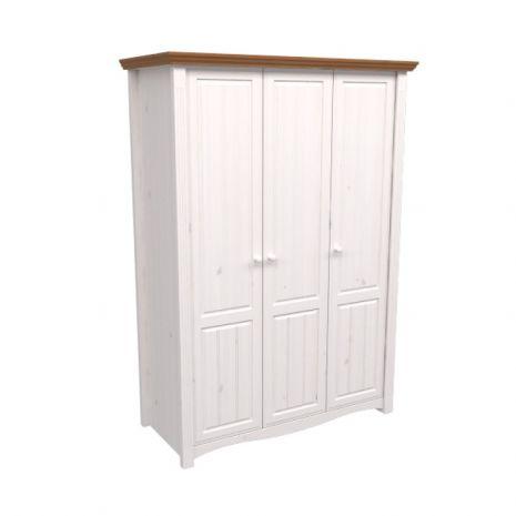 Шкаф 3х дверный Милано (белый воск-антик)