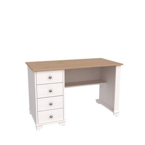 Стол письменный с ящиками Бейли белый воск-антик