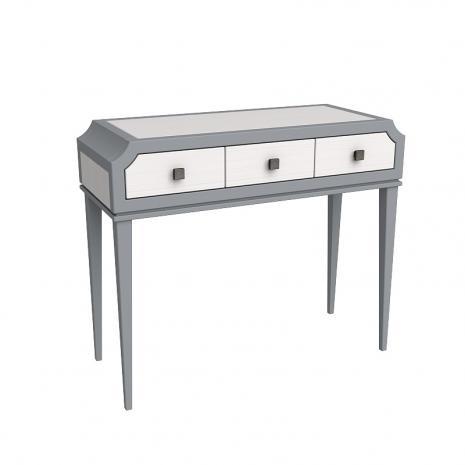 Консоль (стол туалетный) София белый лак/серый лак