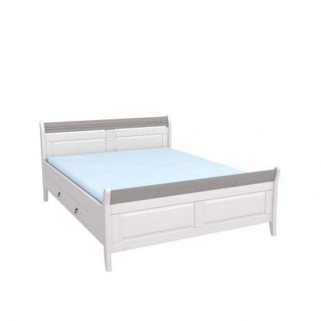 Кровать Бейли с ящиками 160х200 белый воск-антрацит