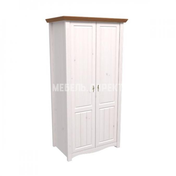 Шкаф 2х дверный Милано (белый воск-антик)