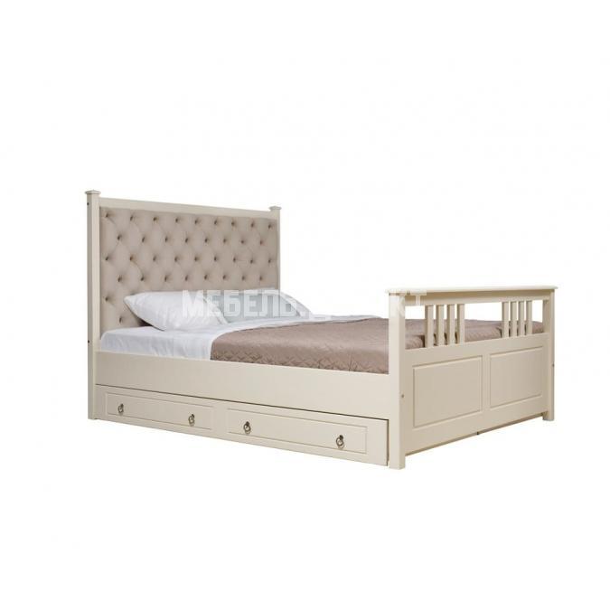 Кровать Дания (мягкая) 2 с ящиками 160