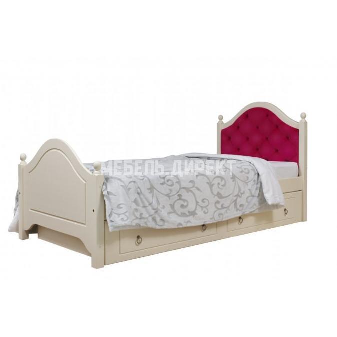 Кровать Кая 2 (мягкая) с ящиками 90
