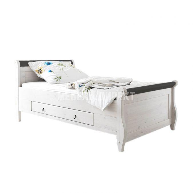 Кровать Мальта 100 с ящиками (колониал)