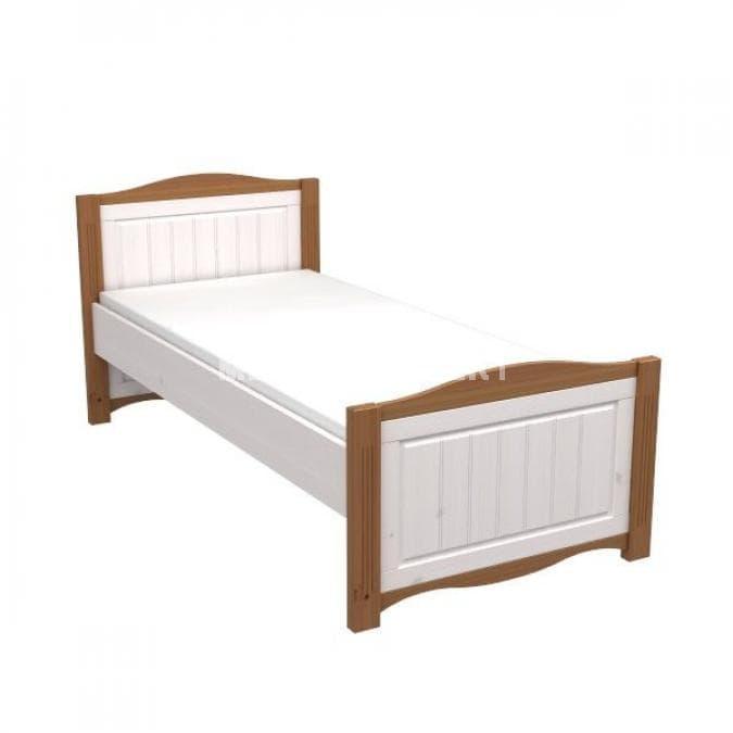 Кровать Милано без ящика (белый воск-антик)