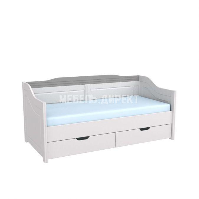 Кровать-диван Бейли с выдвижными ящиками белый воск-антрацит