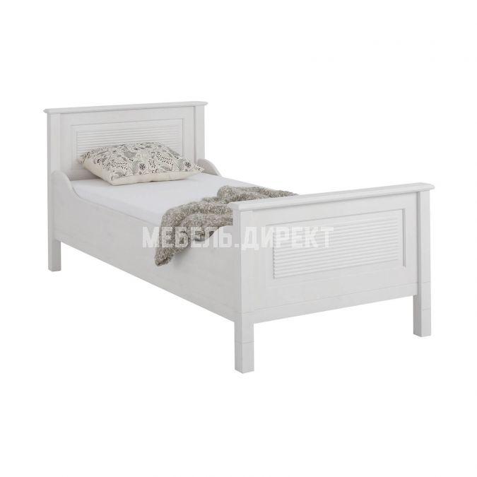 Кровать Рауна J 90x200 (белый воск)