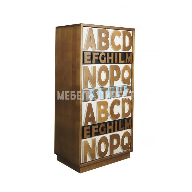 Комод Alphabeto Birch 7 ящиков