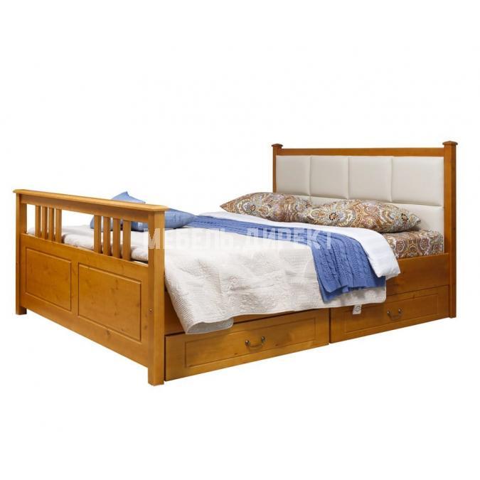 Кровать Дания (мягкая) 3 с ящиками 140