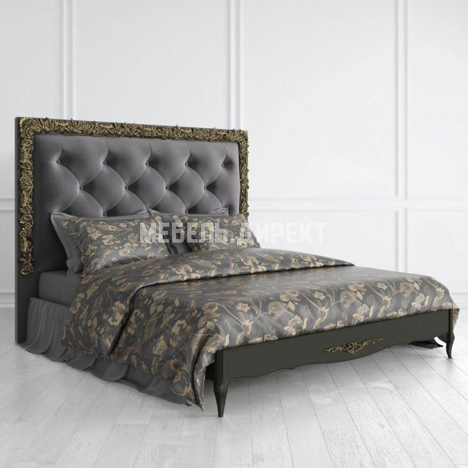 Кровать Nocturne с мягким изголовьем 180*200 золото