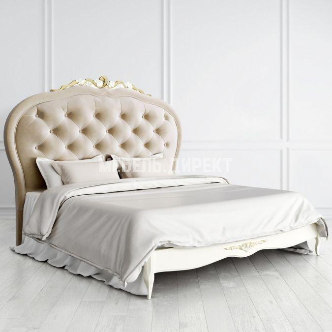 Кровать с мягким изголовьем 160х200 Romantic Gold