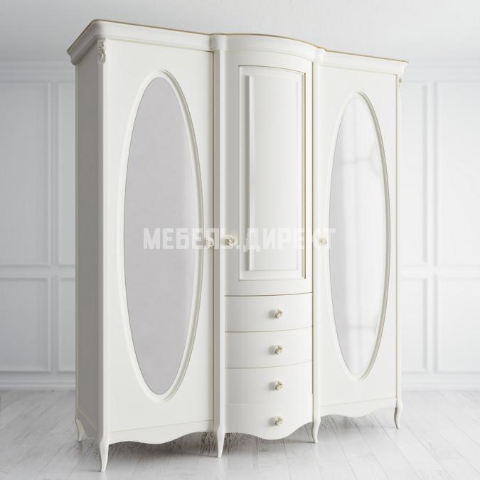 Шкаф 3 двери с зеркалами Opera Rose