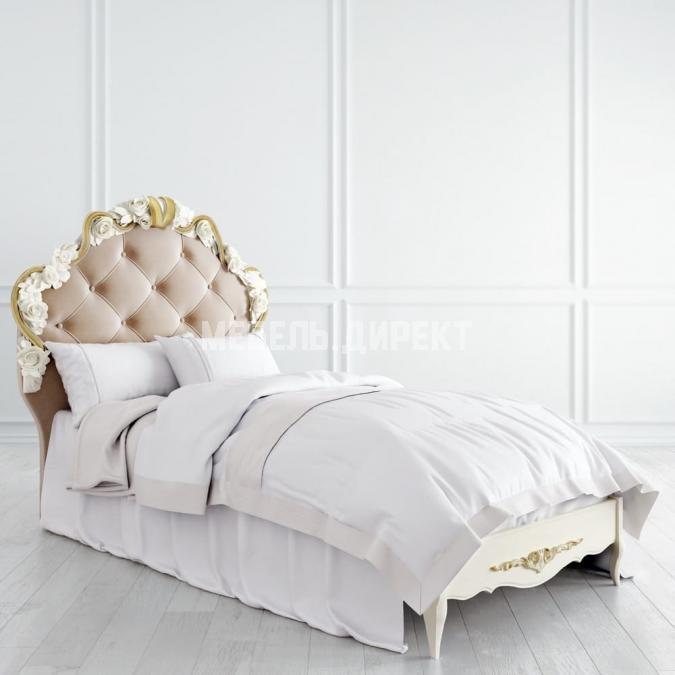 Кровать с мягким изголовьем 90х190 Romantic Gold