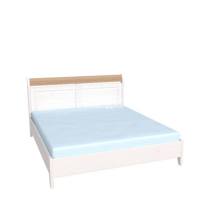 Кровать Бейли без изножья 160х200 белый воск-антик
