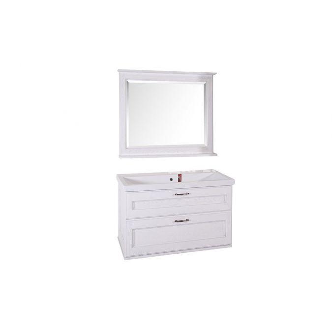 Мебель для ванной Прато 100 Патина серебро