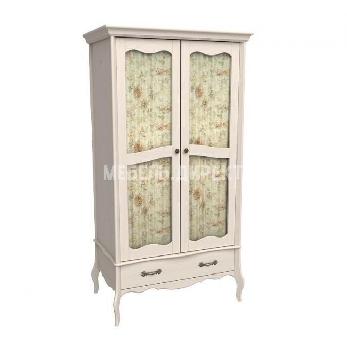 Шкаф 2х дверный Лебо со стеклянными дверями