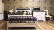 Кровать Бейли без изножья 120х200 белый воск-антрацит